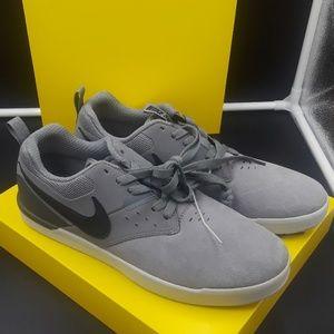 Nike SB grey  and black suede sneakers